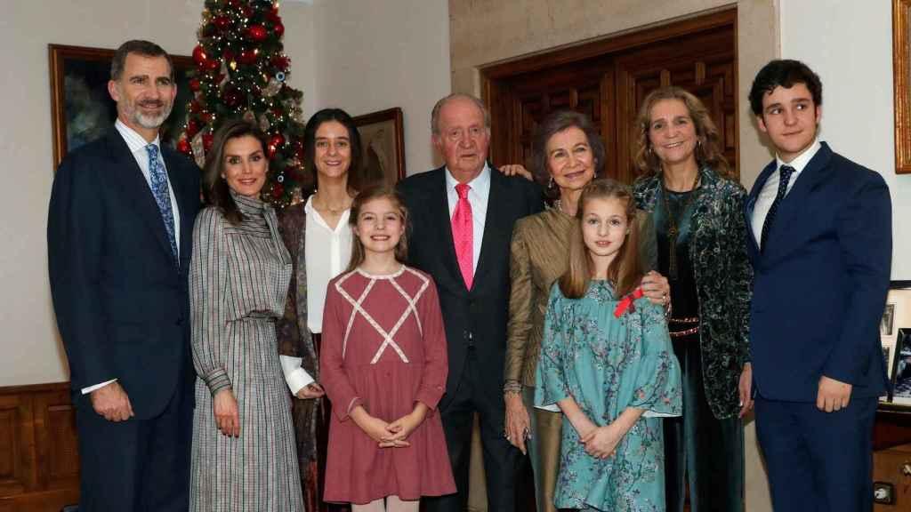 La Familia Real en el cumpleaños del rey Juan Carlos.