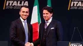 Luigi di Maio y Giuseppe Conte, durante la campaña electoral.