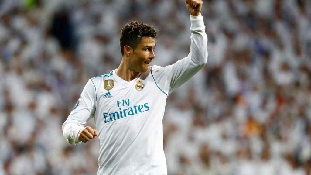 Cristiano Ronaldo celebra un gol.