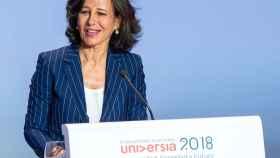 Ana Botín, presidenta del Banco Santander durante la IV Conferencia de Rectores de Universia celebrada en Salamanca.