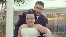 Borja y Almudena en el día de su boda. Redes Sociales.