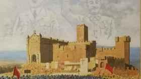 Fragmento del cuadro retirado de la exposición en Pamplona.