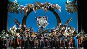 Un momento de la función de El cantor de México, en el Teatro de la Zarzuela.