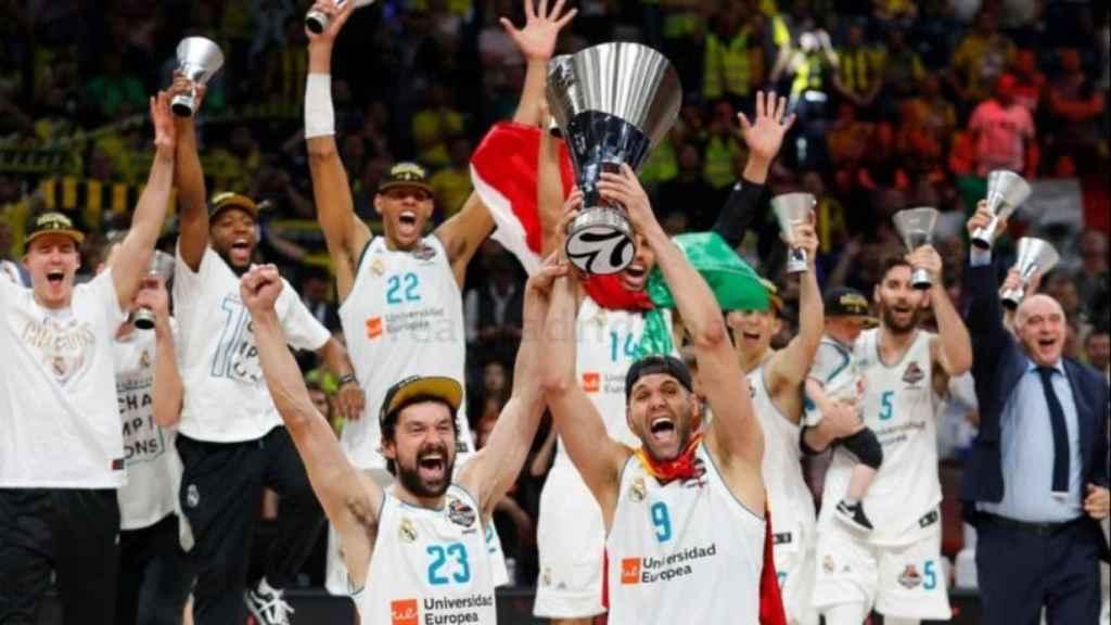 Sergio Llull y Felipe Reyes levantan la Euroliga