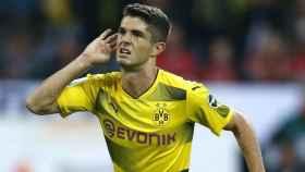 Pulisic, en un partido con el Borussia Dortmund. Foto: Twitter (@BVB)