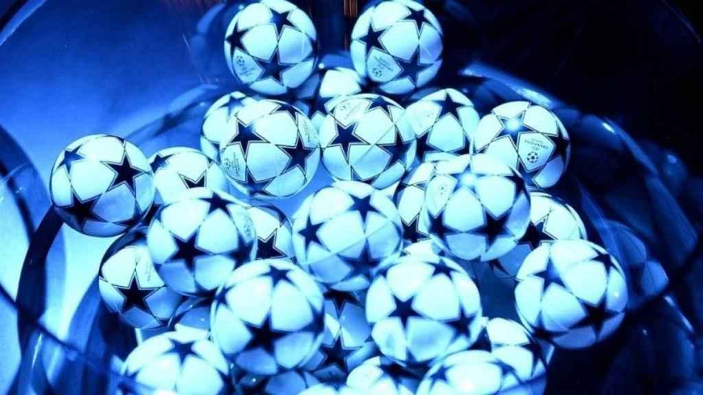 Bolas de sorteo de la Champions League. Foto: uefa.com