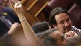 Pablo Iglesias, esta semana en el Congreso.