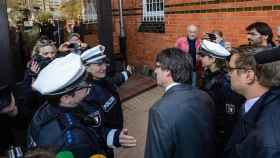 Puigdemont, a su salida de la cárcel alemana el pasado 5 de abril./