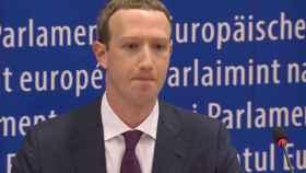 Zuckerberg, durante su comparecencia ante la Eurocámara