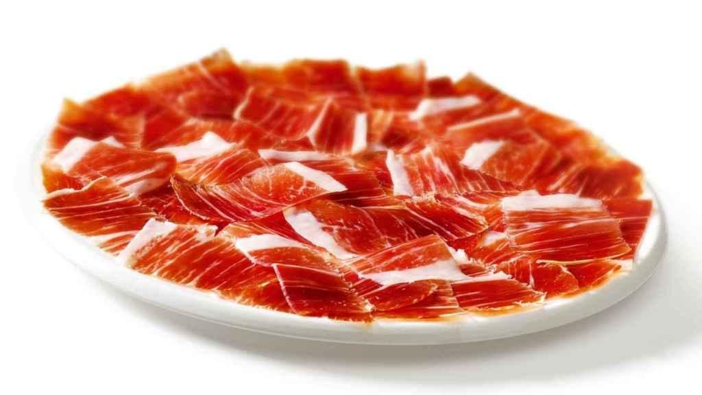 Un plato de jamón ibérico.