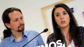 Pablo Iglesias e Irene Montero convocando la consulta a las bases de Podemos.