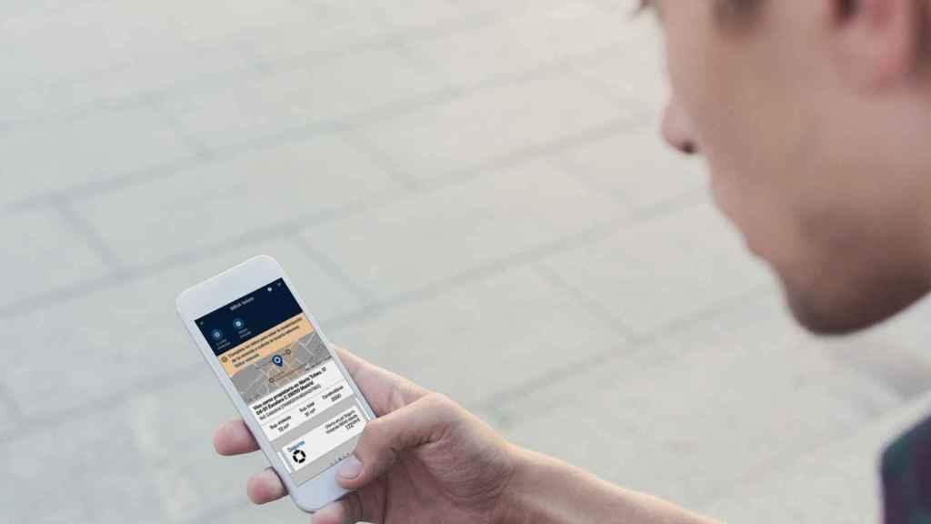 La nueva 'app' de BBVA permite encontrar viviendas disponibles en un barrio enfocando con la cámara del móvil a un edificio concreto.