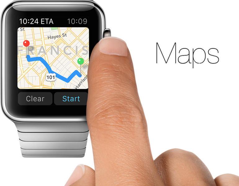 apple maps apple watch