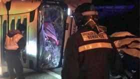accidente camion a62 pollos valladolid 1