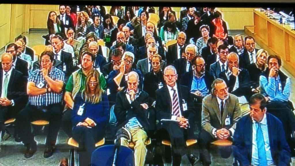 Los acusados del caso Gürtel en una de las primeras sesiones del juicio celebrado en la Audiencia Nacional