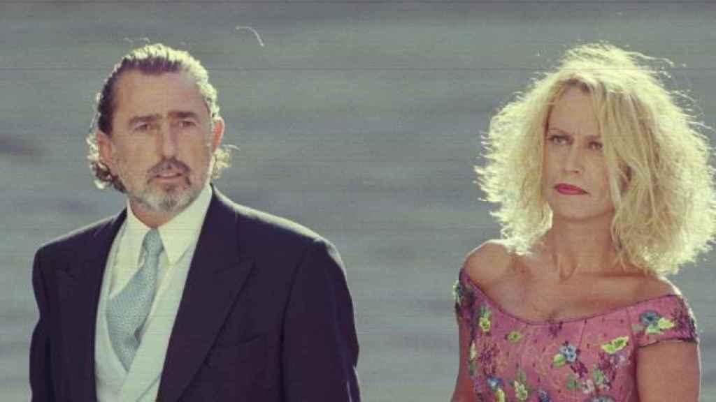 Correa y su esposa en la boda de Alejandro Agag y la hija de Aznar