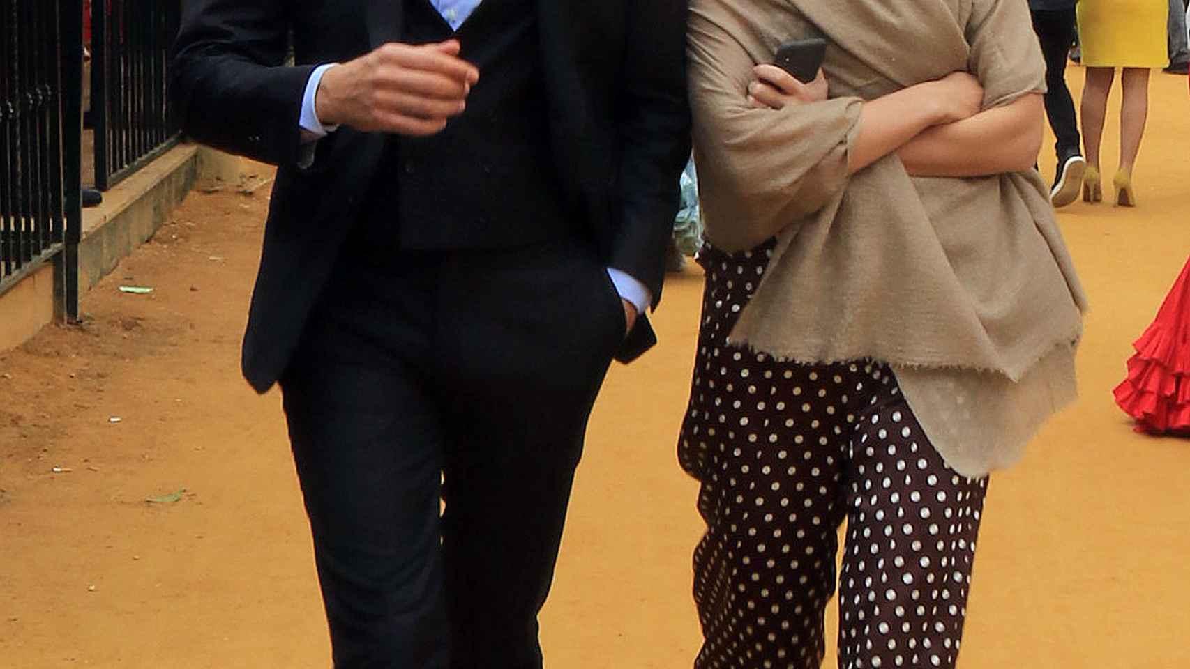 Marta Ortega y Carlos Torretta en la Feria de Abril. Gtres.