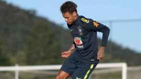 Neymar, en un entrenamiento de Brasil. Foto: Twitter (CBF_Futebol)