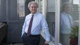 César Antonio Molina en la terraza de la sexta planta de del despacho Cremades & Calvo-Sotelo Abogados en Madrid.
