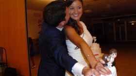 Maje y Antonio en el día de su boda.