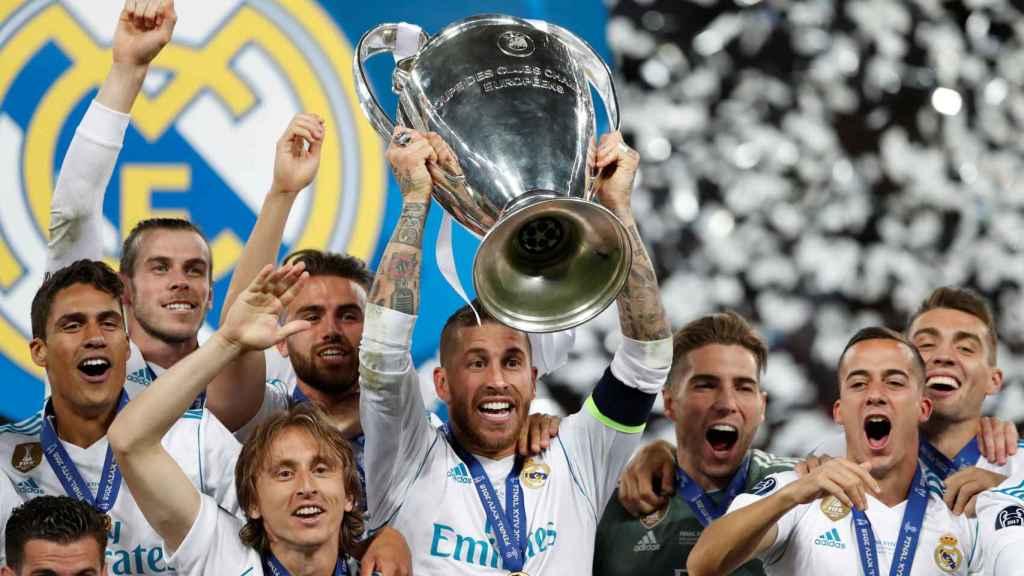 El Real Madrid, campeón de Europa por decimotercera vez.