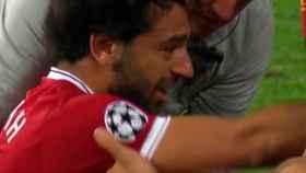 Las lágrimas de Salah tras su lesión