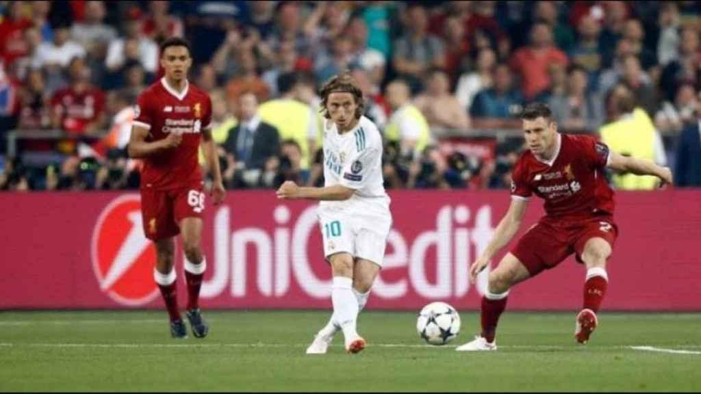 Modric, en la final de la Champions League