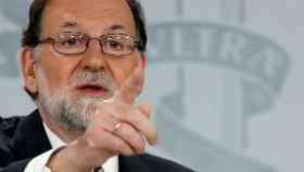 Mariano Rajoy, durante su última comparecencia ante los medios.