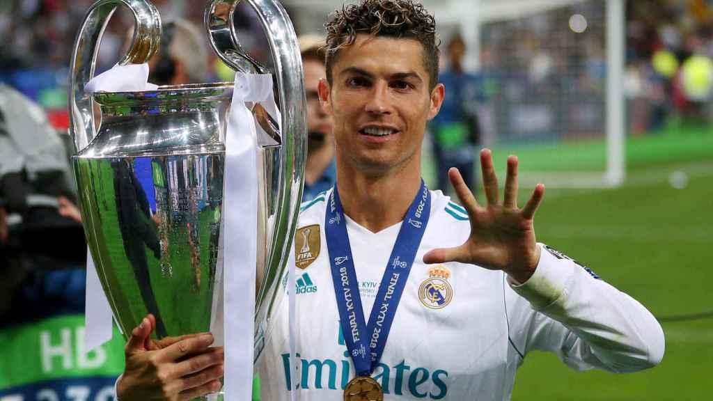 Cristiano Ronaldo con su quinta Champions League.