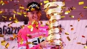 Chris Froome celebra su primer Giro.