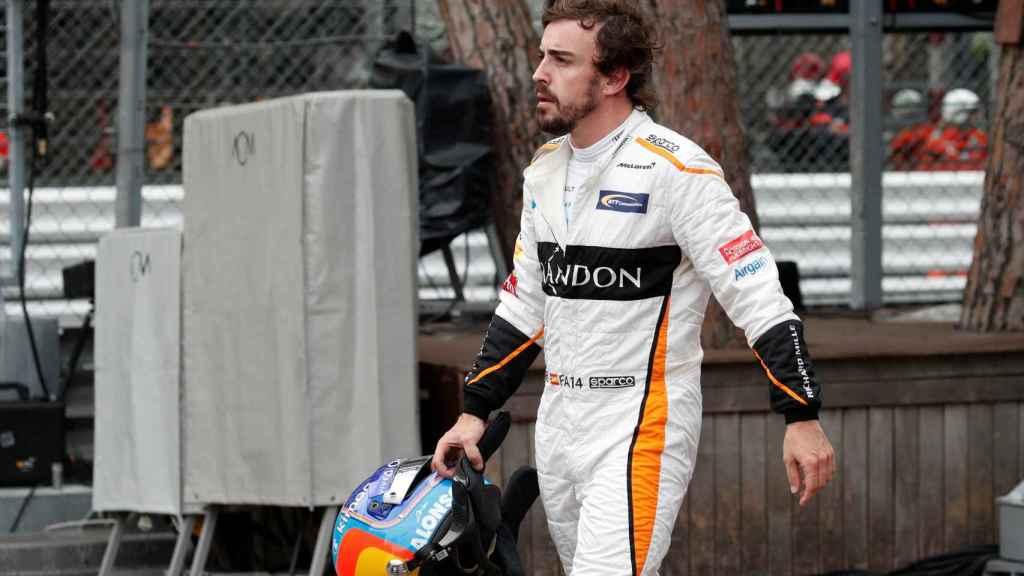 Fernando Alonso, tras abandonar en Mónaco.