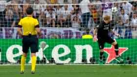 Fallo de Karius en el tercer gol del Madrid