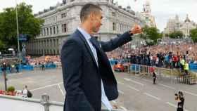 Cristiano Ronaldo durante la celebración de Cibeles