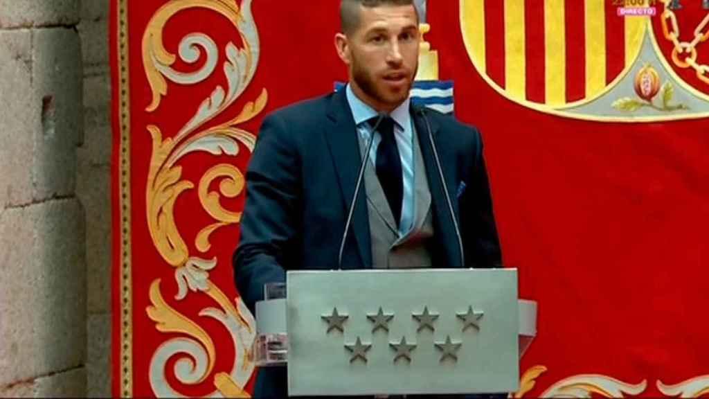 Sergio Ramos, habla en la Comunidad de Madrid
