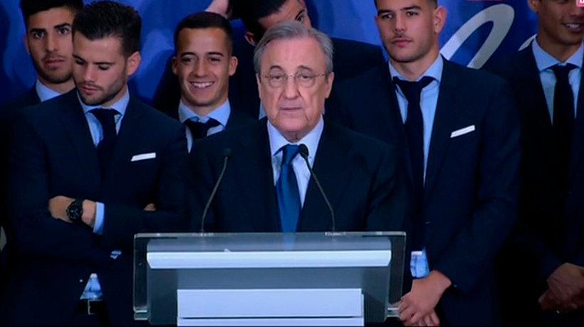 Florentino Pérez: El Real Madrid lidera el fútbol mundial