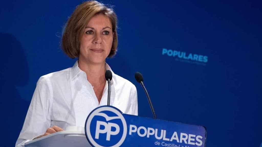 Cospedal, durante su intervención en la reunión de Presidentes Provinciales del PP