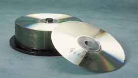 Una pila de discos regrabables.
