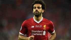 Salah, durante la final de la Champions. Foto: Twitter (@LFC)