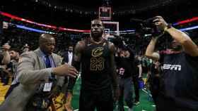 LeBron James tras la victoria sobre los boston Celtics en el séptimo partido de la final de Conferencia.