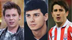 De izquierda a derecha, ElRubius, Alfred y el jugador de fútbol Bojan Krkic.
