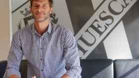 Leo Franco, en su presentación como técnico del Huesca.