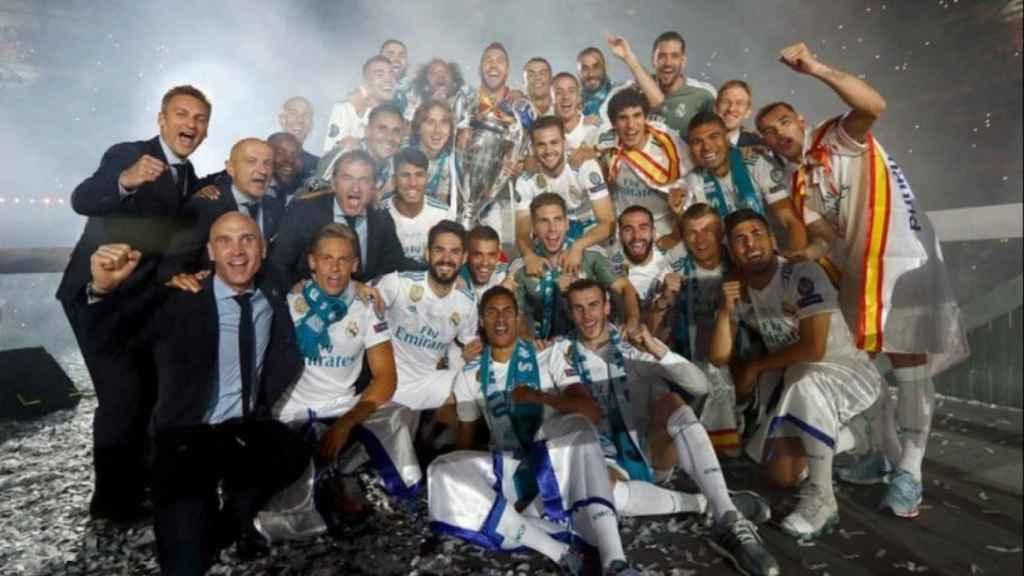 El Real Madrid celebra La Decimotercera en el Santiago Bernabéu
