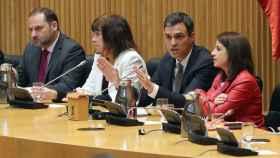 Sánchez, este martes por la mañana en el Congreso de los Diputados.