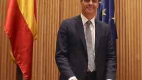 Pedro Sánchez, este martes en el Congreso de los Diputados.