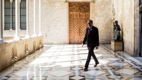 Quim Torra, en uno de los pasillos del Palau de la Generalitat.
