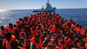 Refugiados rescatados.