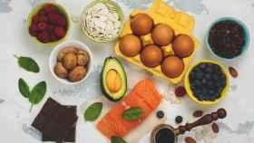 Una imagen de archivo de alimentos bajos en carbohidratos.