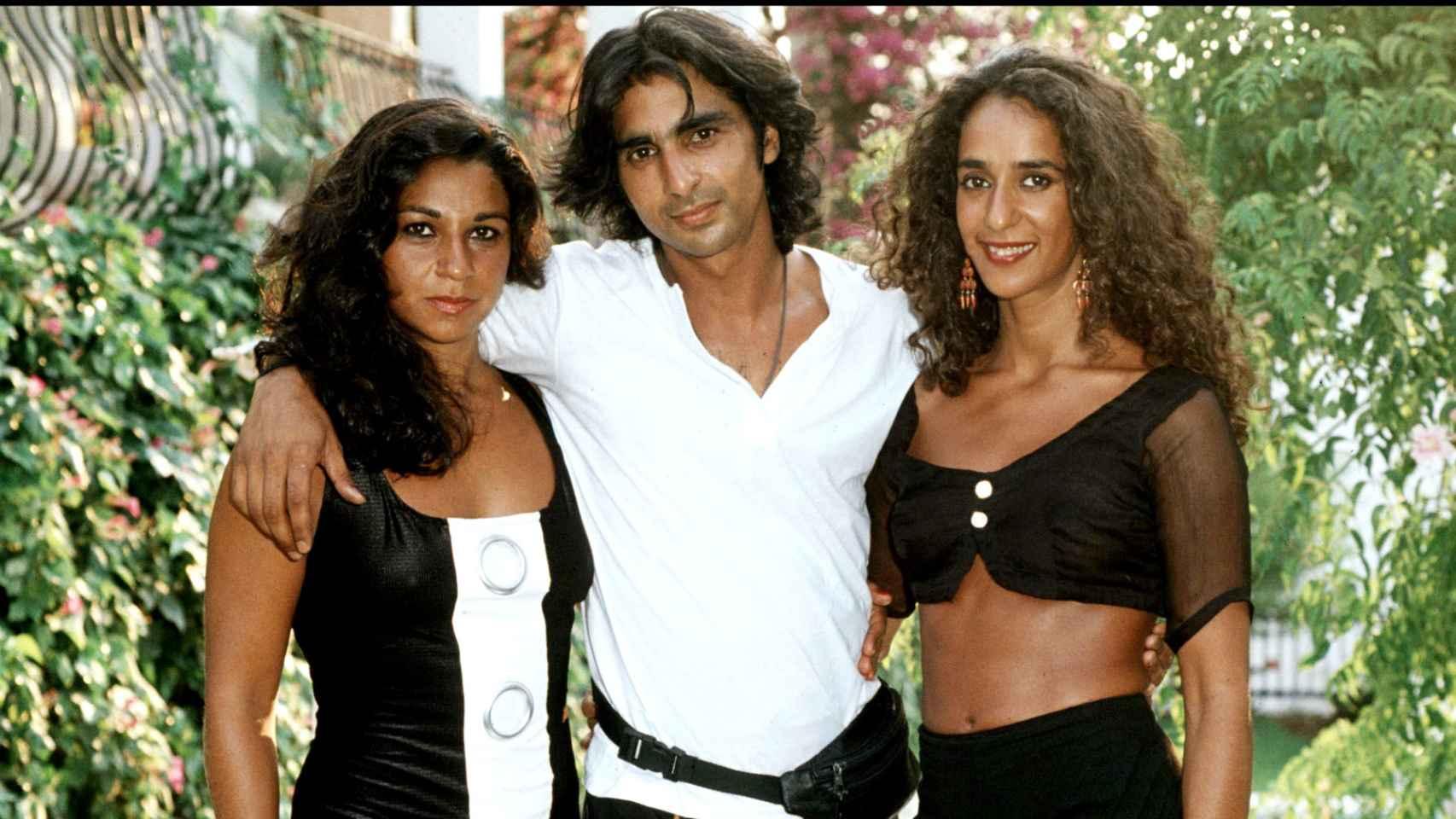 Lolita, Antonio y Rosario Flores, en una imagen de 1990.