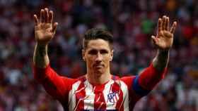 Fernando Torres, en su despedida del Atlético de Madrid.