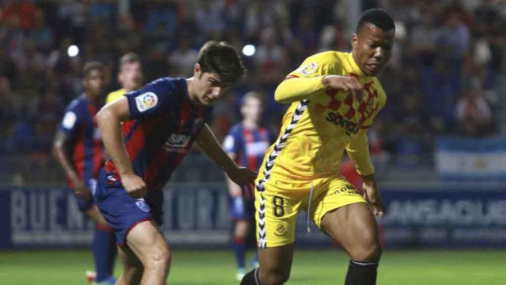 Partido entre Huesca y Nastic de la última jornada de la Liga 123,